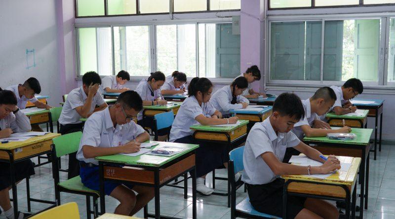 ภาพบรรยากาศการสอบคัดเลือกนักเรียนเข้าเรียนโครงการ IEP (Integrated English Program) ปี 2561