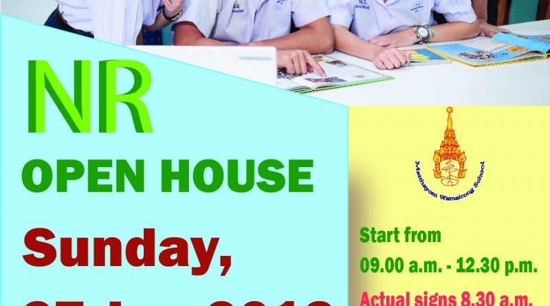 "Open for registration ""NR Open House 2019"""