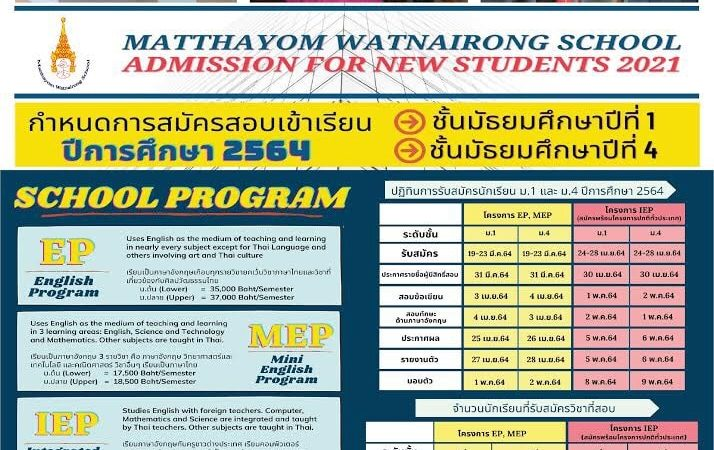 ADMISSION FOR NEW STUDENTS 2021